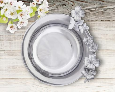 "Arthur Court  Dogwood 10 1/2"" Dogwood-Butterfly Serving Bowl $137.00"